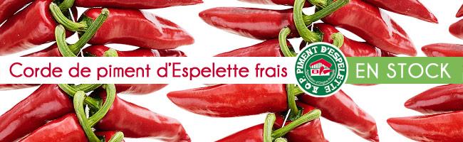Récolte 2014 Nos belles cordes de piments frais sont disponibles !