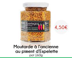 Nouveauté : Moutarde à l'ancienne au piment d'Espelette